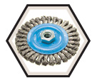 """Wire Wheel Brushes - 0.020"""" Knot-Twisted Wire *For Aluminum & Stainless"""
