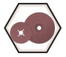 """Sanding Disc - Aluminum Oxide - 4-1/2"""" Dia. / COOLCUT™"""