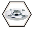 "Clamping Nut - 5/8""-11 Spindle / For Grinders"