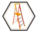 Fiberglass Podium Ladder / PD6200CA Series