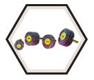 "Small Flap Wheels - Aluminum Oxide - 3"" Dia. / KM 613"