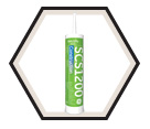 Silicone Sealant: Premium Construction - 299mL Cartridge / SCS1200