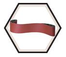 """Cloth Belts - Aluminum Oxide - 4"""" Wide / CS 310 X"""