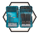 Impact Driver-Drill Bit Set - 70 pieces / T-01725