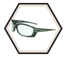 Safety Glasses - Clear - Matte Black Frame - Sealed / Livewire™