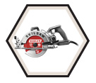 "Circular Saw (Tool Only) - 7-1/4"" - Worm Drive / SPT77W-22"