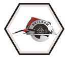 """Circular Saw (Tool Only) - 7-1/4"""" - Sidewinder / SPT67W-01"""