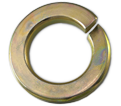 Lock Washer - Helical Spring - Grade 8 Steel / Yellow Zinc
