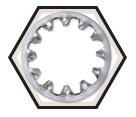 Lock Washer - Internal Tooth - 410 Stainless Steel
