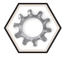 Lock Washer - External Tooth - Steel / Zinc