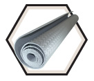 "Anti-Fatigue Mat - Black - 46"" x 93"" - EVA Foam / 70071"