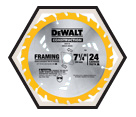 "Circular Saw Blade - 7-1/4"" - Framing - 24T / DW3578"