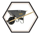 Wheelbarrow - Steel - 6 cu. ft. / True Temper Series