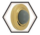 Door Stop - Convex - Brass Plating / 16-4801