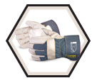 Fitter Gloves - Lined Palm - Full Grain Cowhide / 76B
