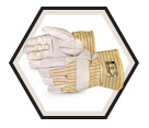 Fitter Gloves - Puncture Level 3 - Lined - Full Grain Cowhide / 76YBDQ-L