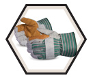 Fitter Gloves - Puncture Level 3 - Lined - Double Thick Split Cowhide / Roughneck