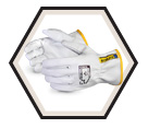 Driver Gloves - Puncture Level 3 - Unlined - Full Grain Goatskin / 378GKTA