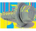 "Hex Washer Head 1/4"" Hex Head Screws & Assmebled Washer / Zinc (BULK)"