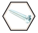 Round Head #10 - 24 Combination Machine Screws / Zinc (PKG)