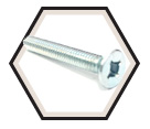 "Flat Head; 1/4"" - 20 Recex® Machine Screws / Zinc (PKG)"