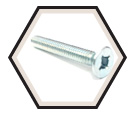 Flat Head; #6 - 32 Recex® Machine Screws / Zinc (PKG)
