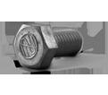 """Hex Head Cap Screw - 1/2"""" UNC / Aluminum"""