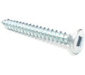 Flat Head #10 Robertson Wood Screws / Zinc (BULK)