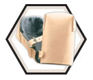 Kneepads - Tan - Soft - Top Grain Leather / KP300