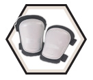 Kneepads - Grey - Hard - Poly Fabric / KP303
