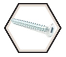 Flat Head; #7 Robertson Wood Screws / Zinc (PKG)