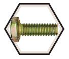 "Hex Head Cap Screw 1/4"" UNF - Grade 8 / Yellow Zinc"