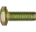 "Hex Head Cap Screw 7/16"" UNF - Grade 8 / Yellow Zinc"