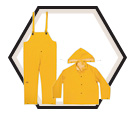 35mm PVC - 3-Piece Yellow Rainsuit - Large / R101L