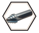 "1/2"" - Kwik Stepper® Single Hole Step Bit"