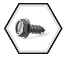 Hex Washer Head #10 Screws / Aluminum