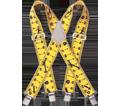 Suspenders - Ruler Pattern - Stretch Fabric / SP15BK