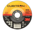3M™ Cubitron™ II Depressed Centre Grinding Wheel, T27, 66588, 5 in x 1/4 in x 7/8 in - Black