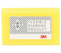 3M(TM) Flexible Diamond Hand Lap 6200J, 2-1/4 in x 3-3/4 in M40 Micron, 10 per case - Yellow