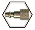 Interchange Nipple - Female Pipe - Brass / ARON4 Series