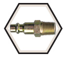 Interchange Nipple - Male Pipe - Brass / ARON4 Series