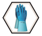 Chemical Resistant Gloves - 16 mil - Lined - Rubber Latex / FL 200