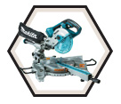 "Dual Sliding Compound Miter Saw - 7-1/2"" - 36V Li-Ion / DLS714Z Series *X2"