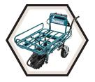Wheelbarrow - Steel - 287 lbs. Cp. - 2x18V Li-Ion / DCU180ZX1