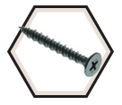 Wafer Head w/ Nibs - #8 Cement Board Screw - All-Weather Coating (JUG)