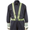 Traffic Suspenders - Hi-Viz Yellow Green - Stretch Fabric / TSHG32