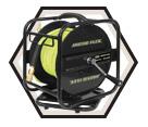 "Air Hose (Kit) w/ Reel - 1/4"" MPT - Hybrid Polymer / K-10014FRL *Arctic Flex"