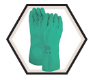 Chemical Resistant Gloves - Lined - Nitrile / 37-175 * SOL-VEX