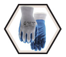 Palm Coated Gloves - Cut Level 2 - Poly/Cotton / Blue Chip
