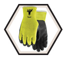 Palm Coated Gloves - Lined - Poly/Cotton / Visibull